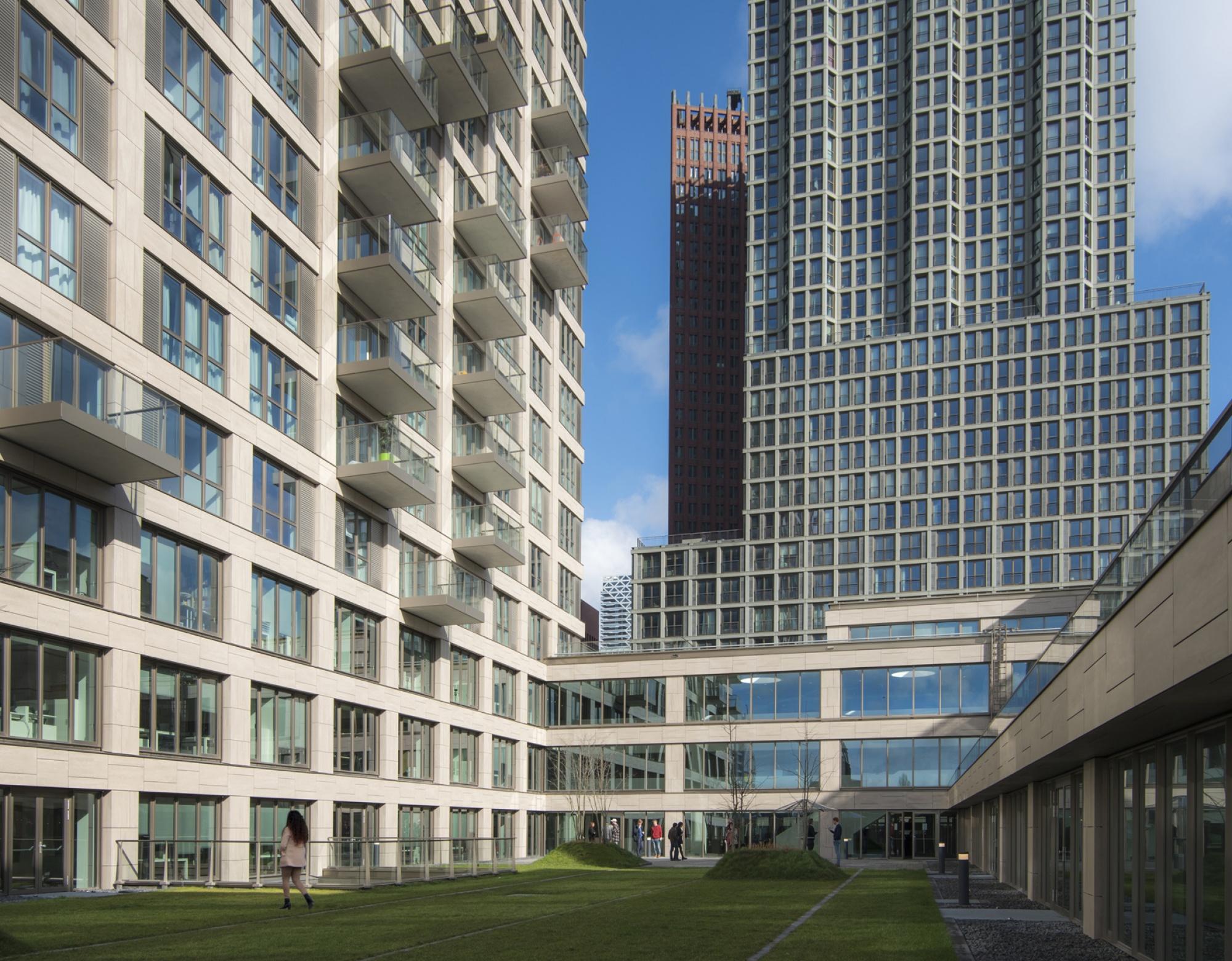 Tegels Den Haag : Sandfarbene keramikfassade bereichert haager skyline u003e mosa. tegels.
